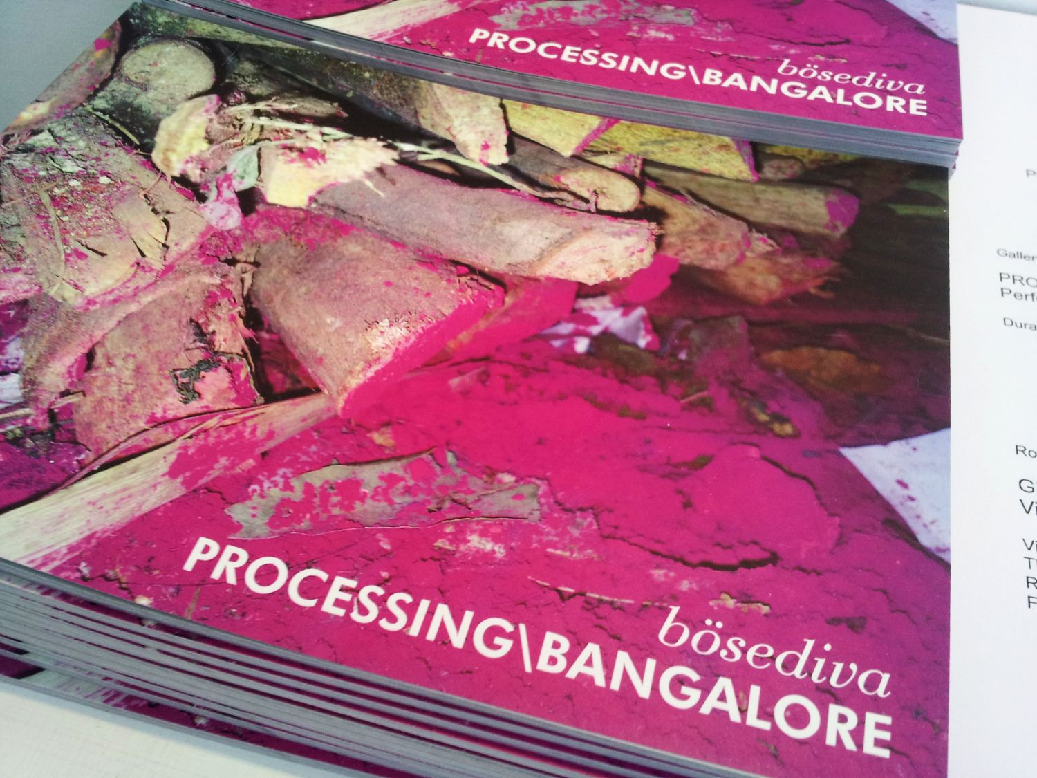 PROCESSSING \ BANGALORE - the book